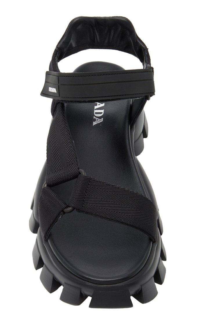 Cloudbust Rubber-Trimmed Canvas Platform Sandals