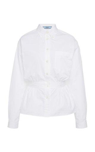 Gathered Button Down Shirt