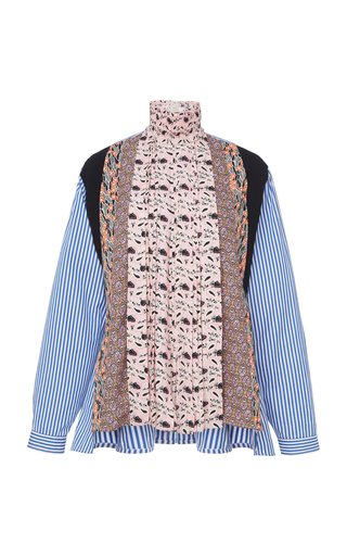 Pleated Patchwork Shirt