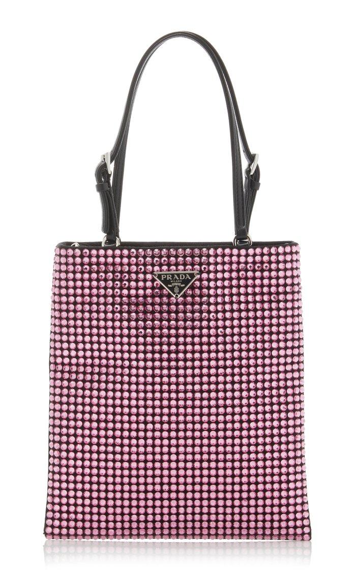 Satin Handbag With Decoration