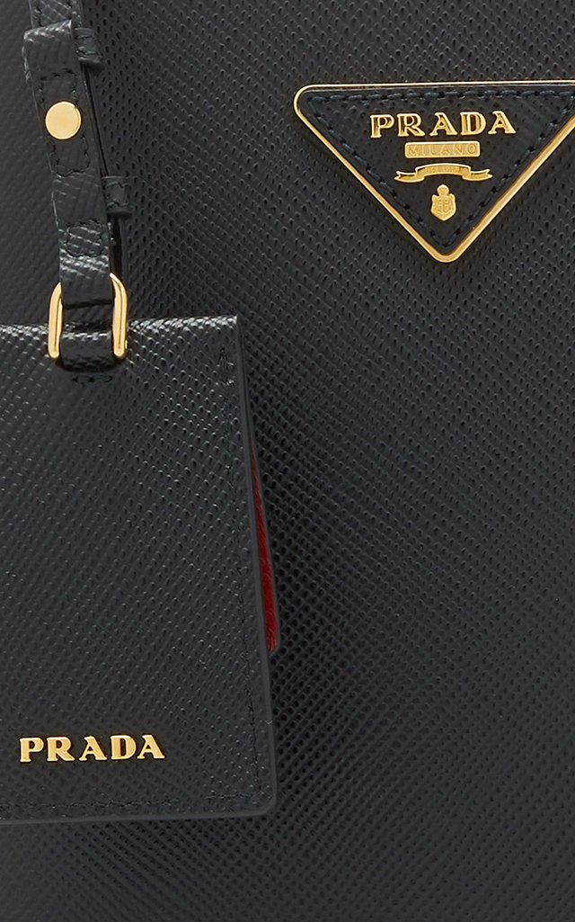 Small Saffiano Leather Panier Bag