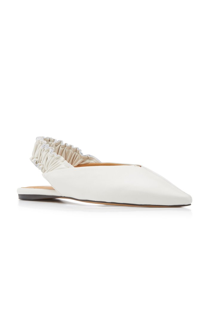 Linta Slingback Leather Flats