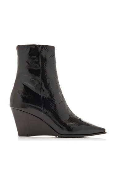 Lena Patent Leather Wedge Boots