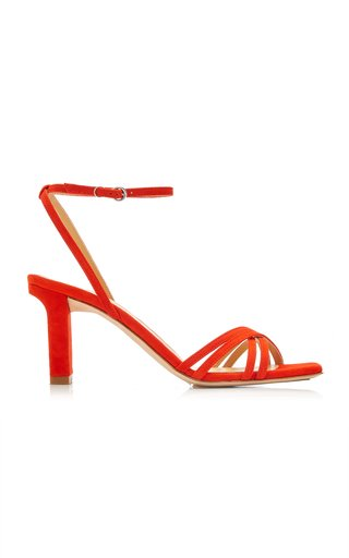 Annabelle Snake-Effect Suede-Leather Sandals
