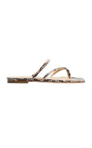 Marina Snake Print Sandals