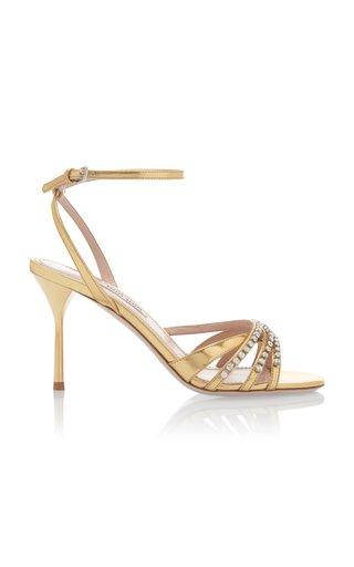 Crystal-Embellished Strappy Sandals