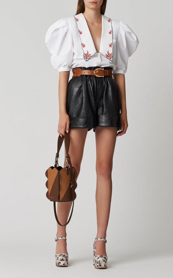 Wide Woven Leather Belt