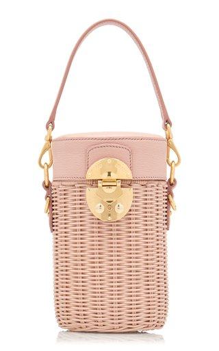 Midollino Leather-Trimmed Rattan Bucket Bag