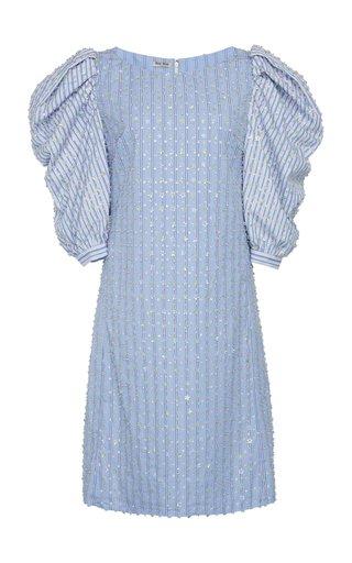 Embellished Puff Sleeve Dress