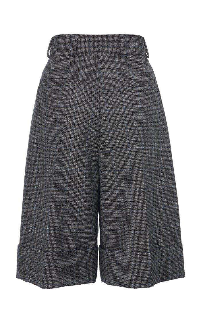 Cuffed Knee-Length Shorts
