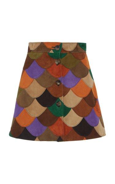 Scalloped Patchwork Skirt
