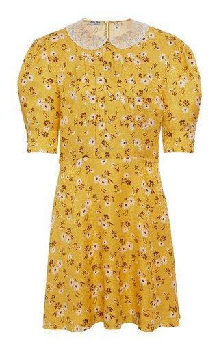 Floral Pleated Mini Dress