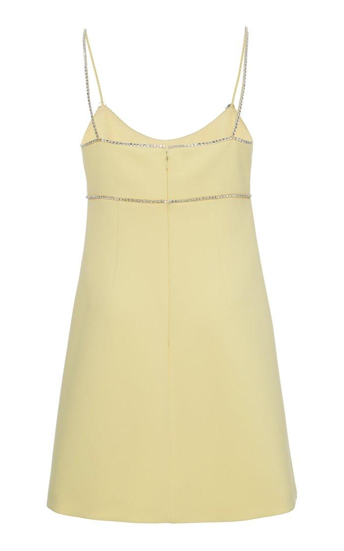 Crystal Embellished Cady Mini Dress