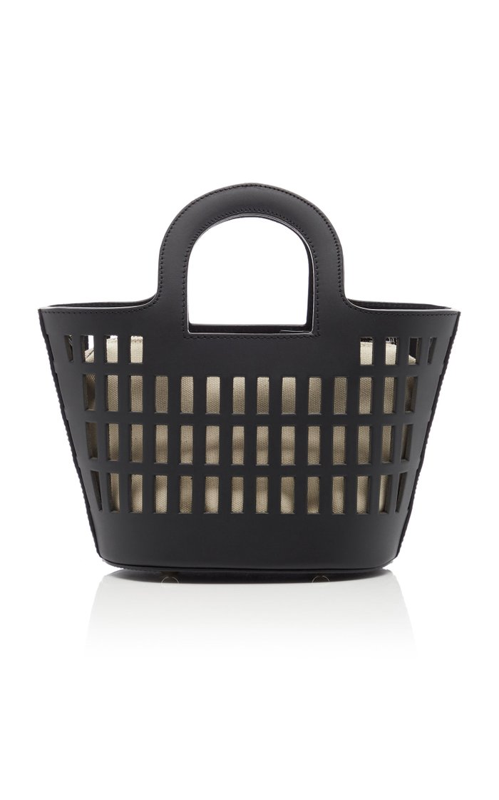 Colmado X-Small Laser-Cut Leather Tote