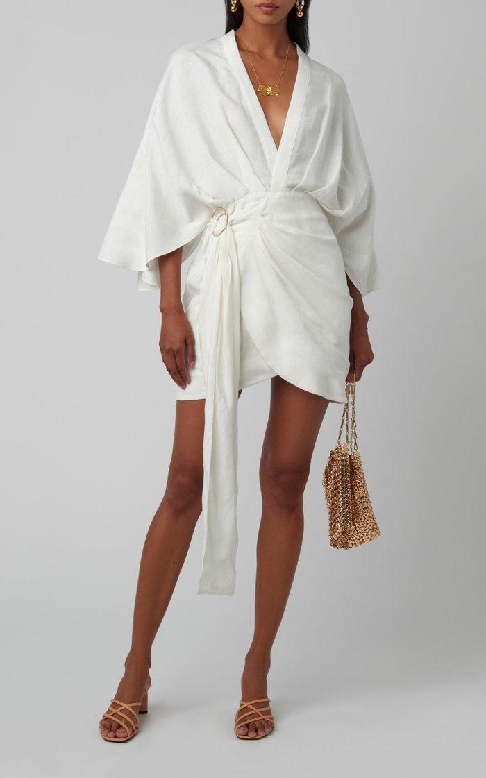 Zahara Linen Wrap Dress