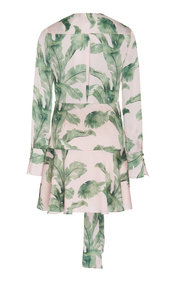 Florence Gathered Printed Chiffon Mini Dress