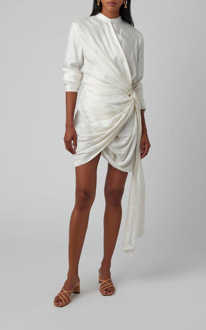 Voyager Wrap-Effect Cupro-Blend Mini Dress