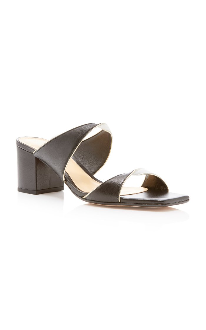 Miki Two-Tone Leather Sandals