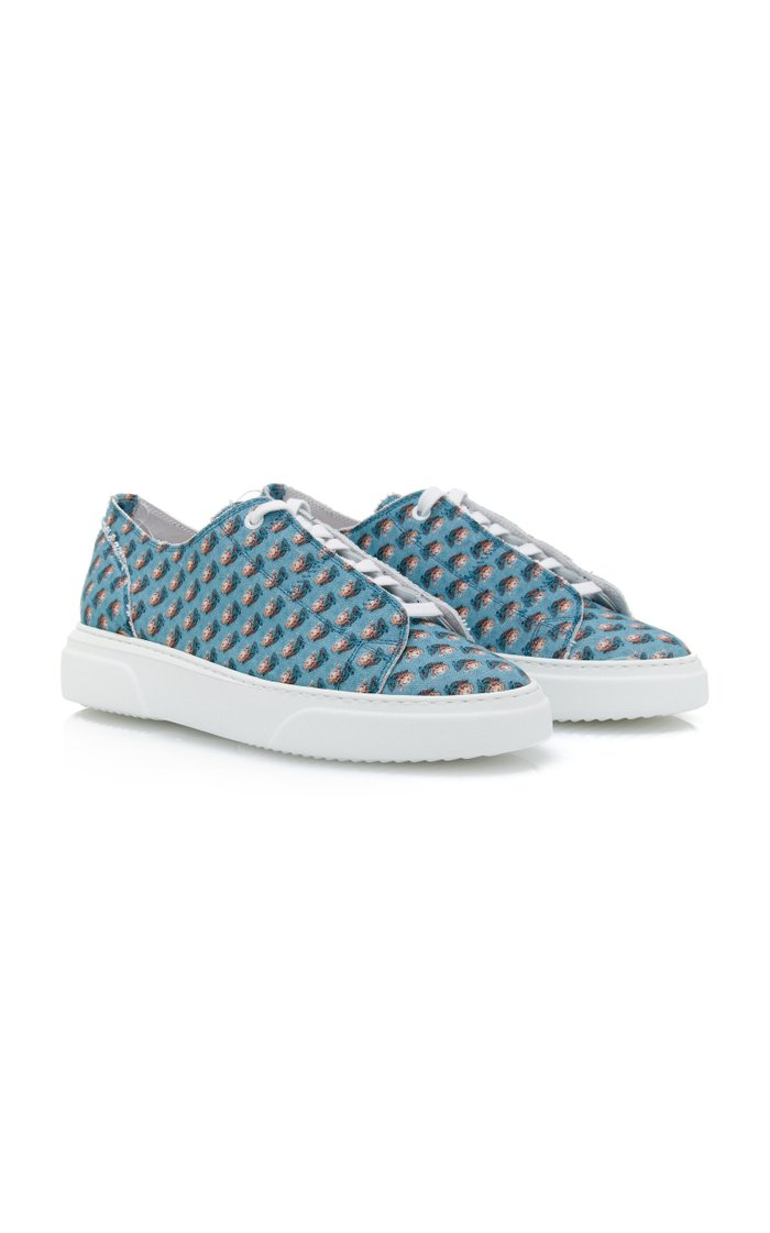 Sultan Printed Cotton-Canvas Low-Top Sneakers
