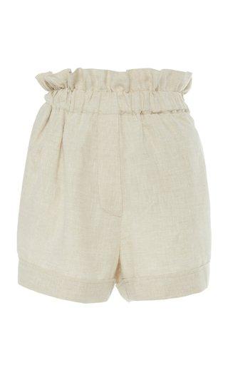 Como Sand Linen Mini Shorts