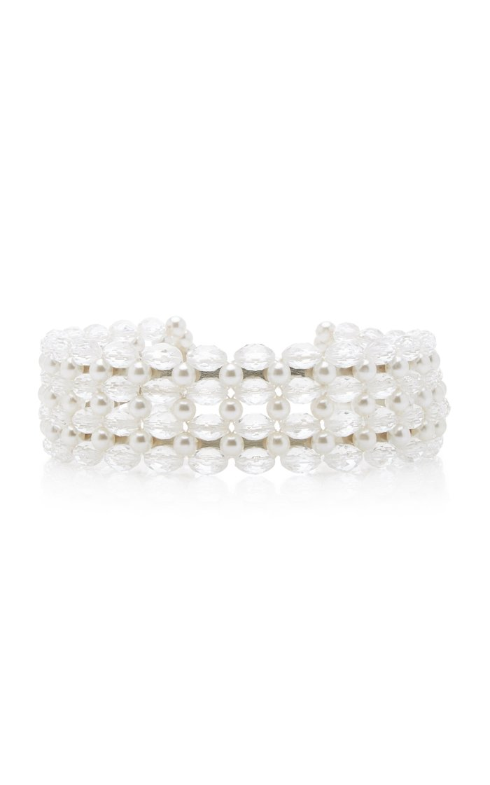 Quinn Bead and Faux Pearl-Embellished Headband