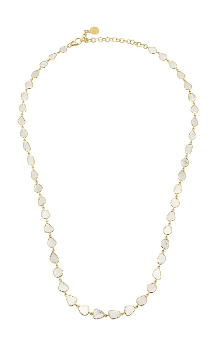 Polki 18K Gold And Diamond Necklace