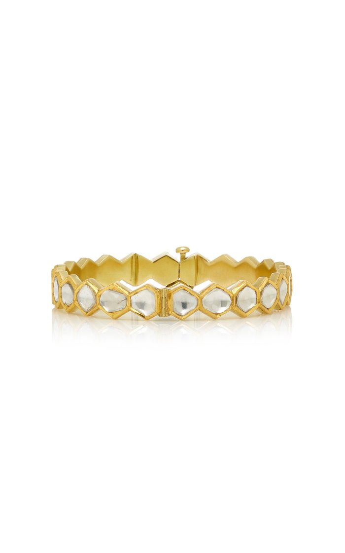 Kundan 18K Gold And Diamond Bracelet