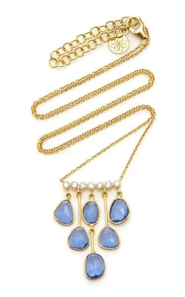 Rashmika 18K Gold, Sapphire And Diamond Necklace
