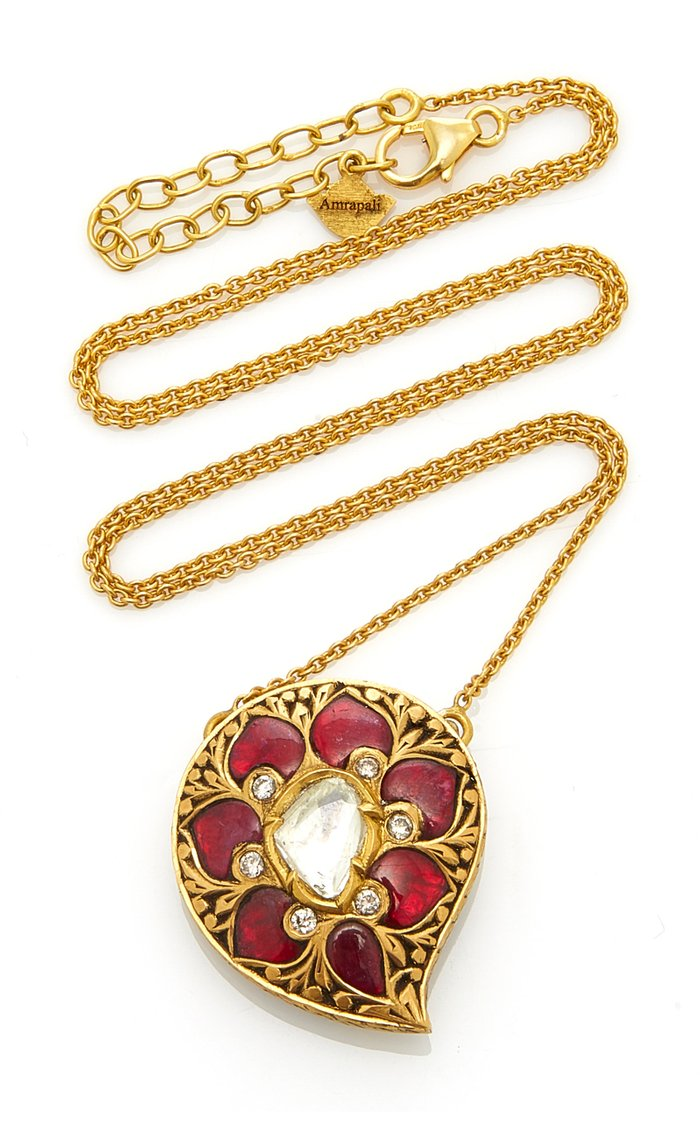 Gold And Multi-Stone Necklace