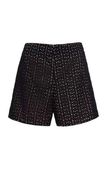 Coliseo Broderie Anglaise-Cotton Shorts