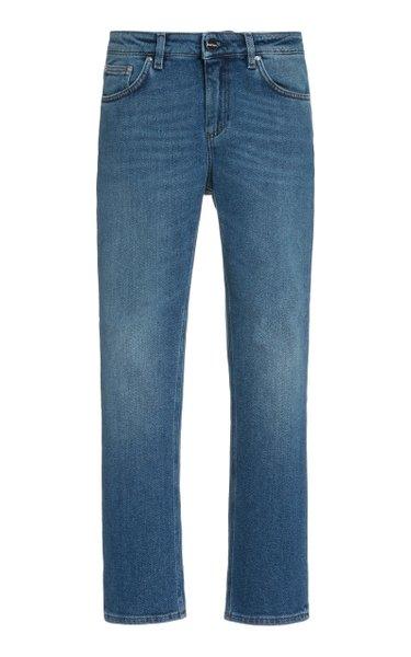 Straight Rigid Mid-Rise Jeans
