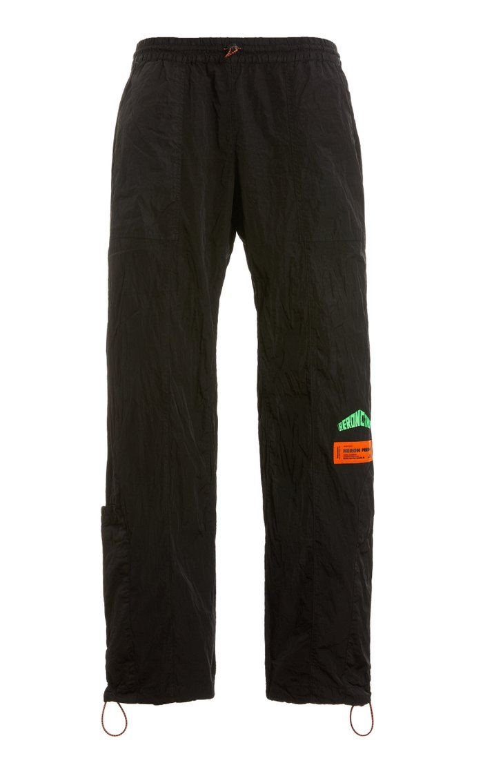 Embroidered Shell Joggers