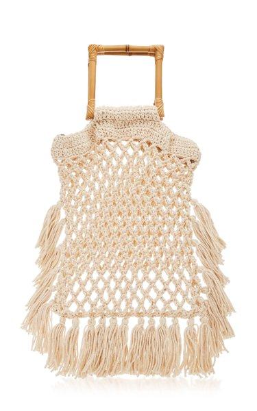 Narciso Fringed Macramé Handle Bag