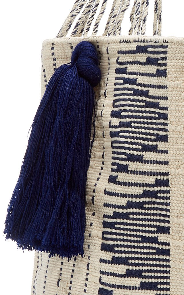 Bianca Woven Cotton Tote Bag