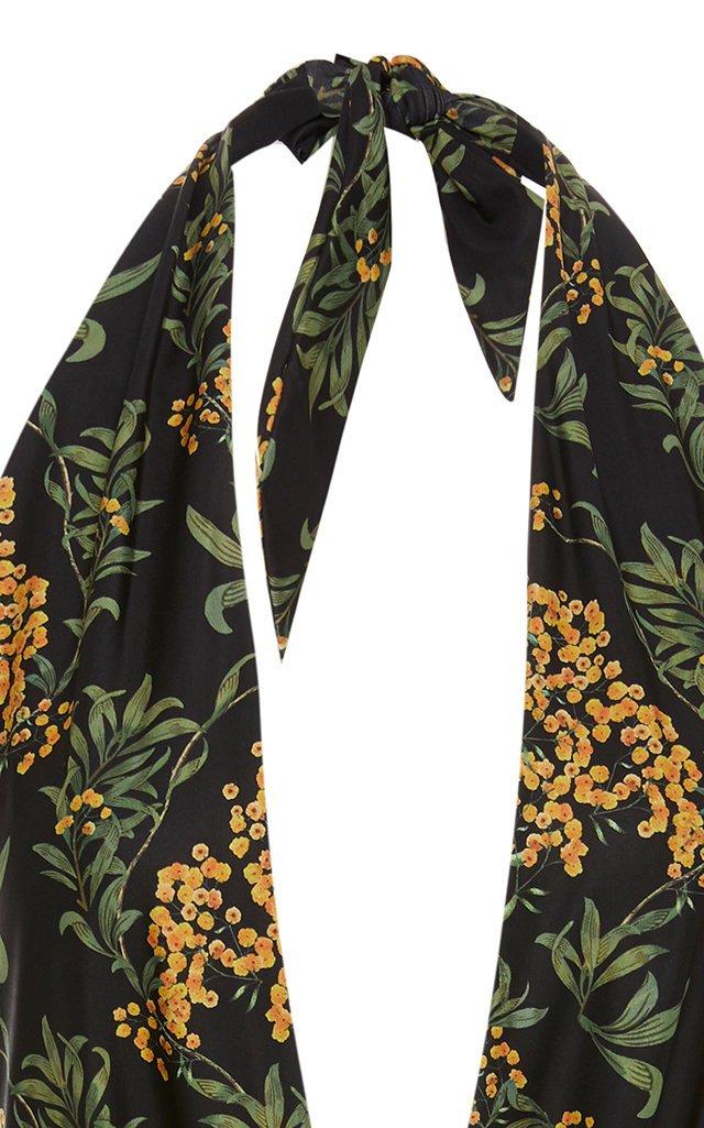 Mangostino Floral-Print Halterneck Swimsuit