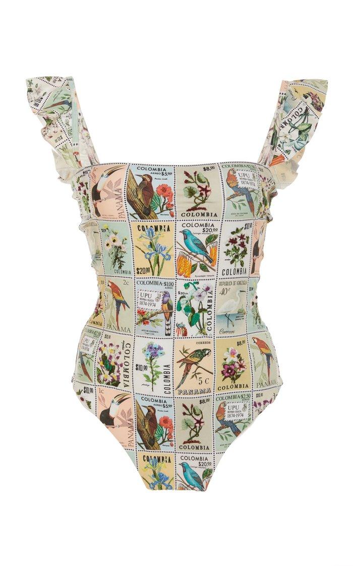 Nativa Ruffled Printed Swimsuit