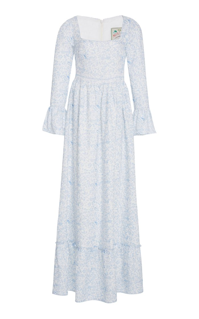 Curuba Printed Linen Maxi Dress