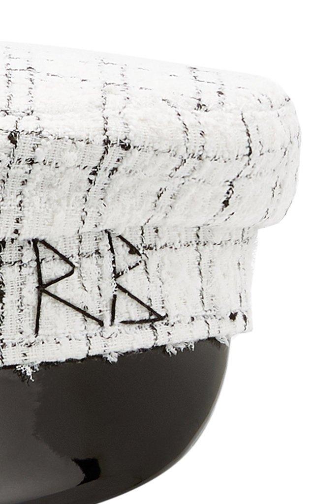 Checked Wool-Tweed Cap