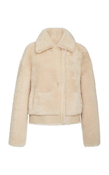 Iris Shearling Aviator Jacket