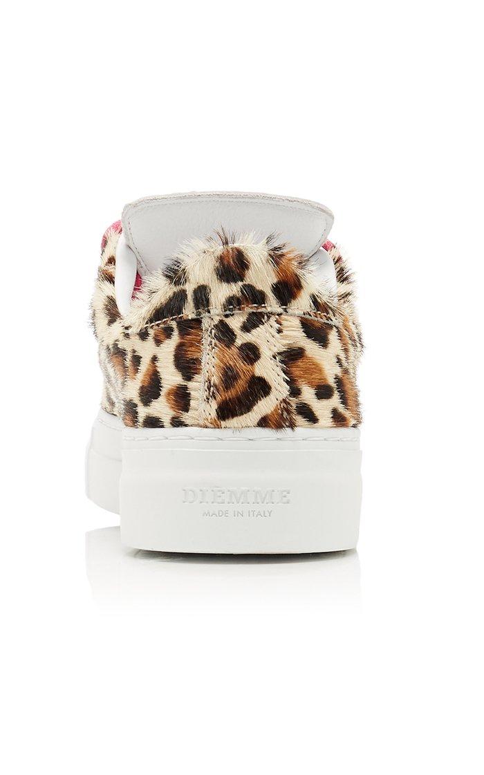 Marostica Leopard-Print Calf Hair Sneakers
