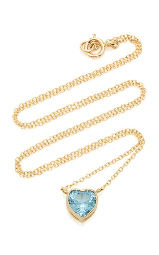 London 18K Gold and Topaz Necklace