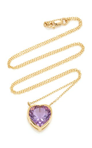London 18K Gold and Amethyst Necklace