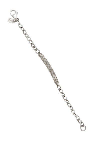 Oxidized Sterling Silver Diamond Bracelet