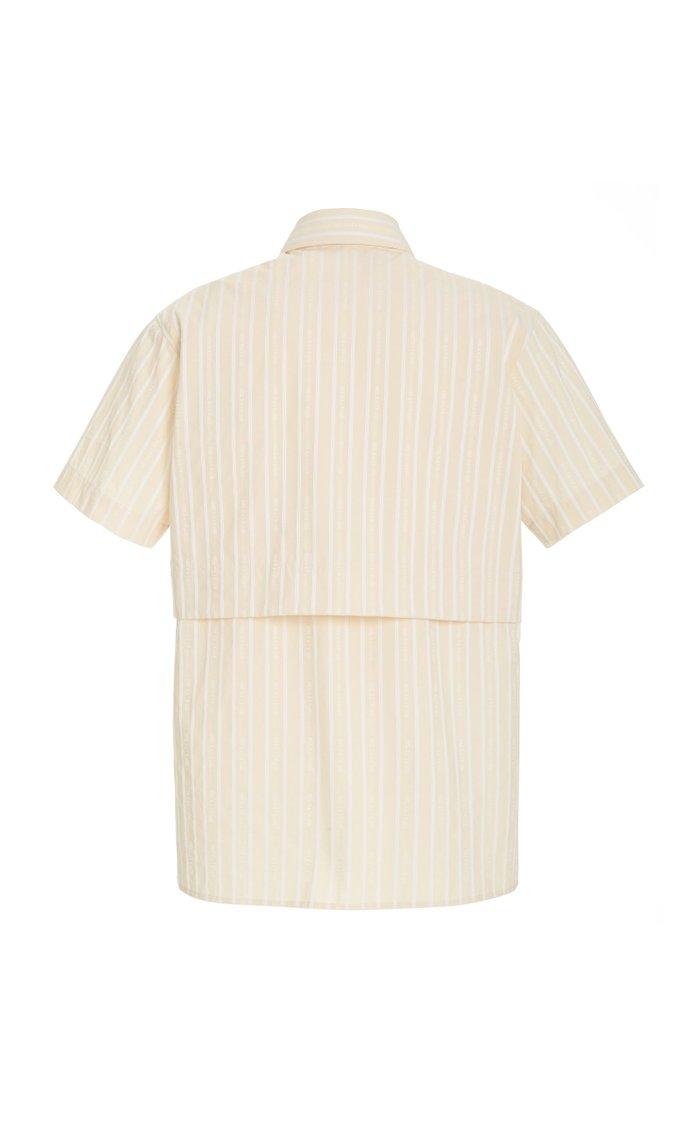Edge Striped Poplin Shirt