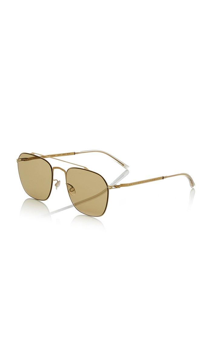 + Maison Margiela Craft Aviator-Style Gold-Tone Sunglasses