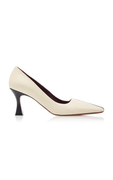 Duck Two-Tone Leather Pumps