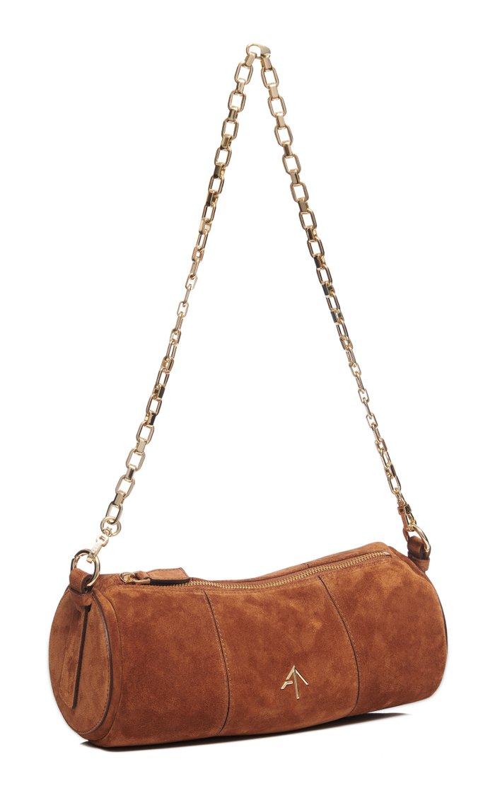 Cylinder Suede Shoulder Bag