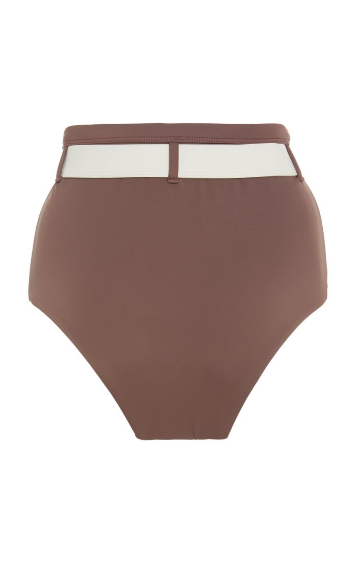 Mesa Belted High-Waisted Bikini Bottom