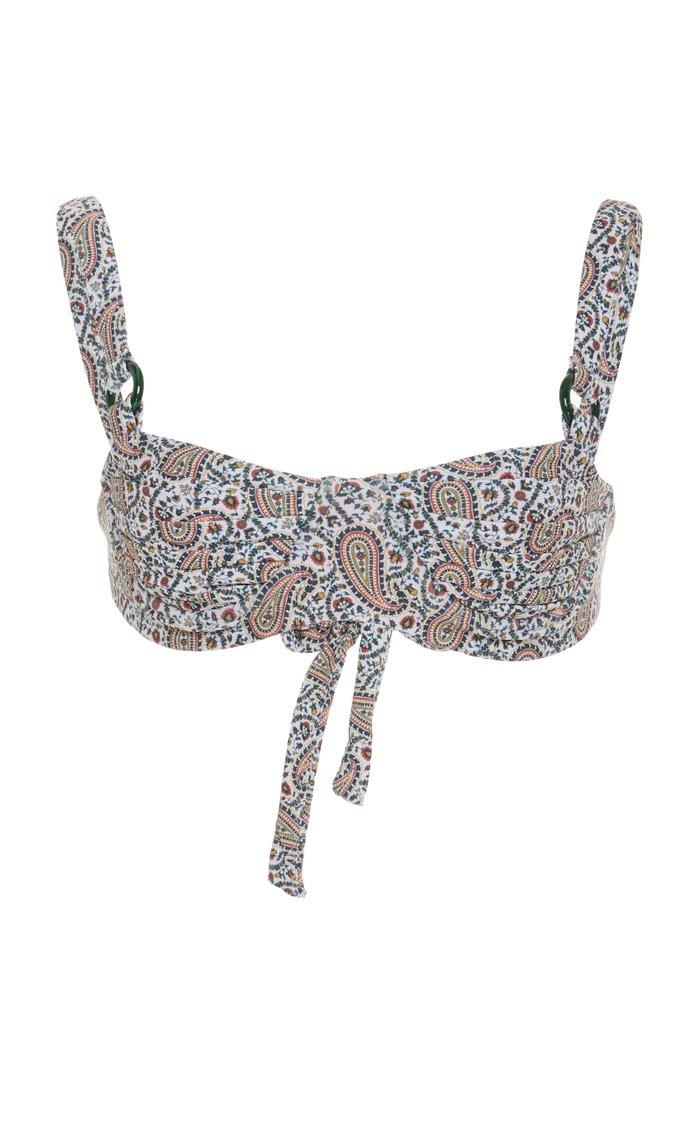 Grace Ruched Printed Bikini Top