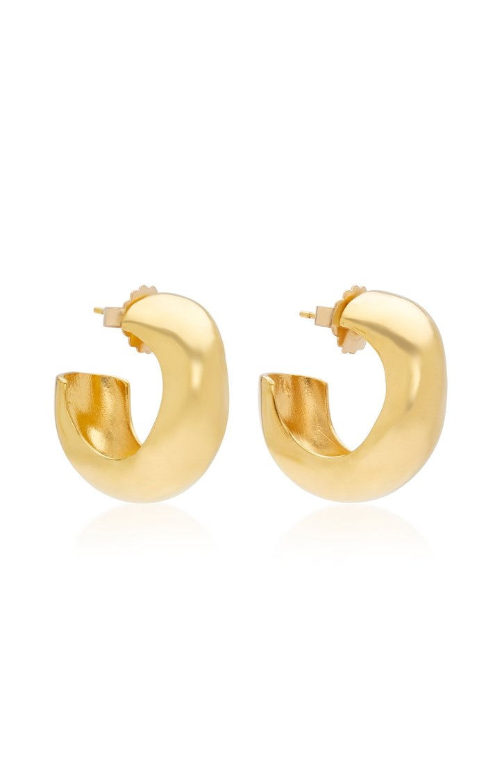 Celia Medium Gold Vermeil Hoops